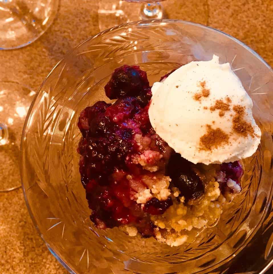 Berry Cobbler - Aurora Staples Inn breakfast